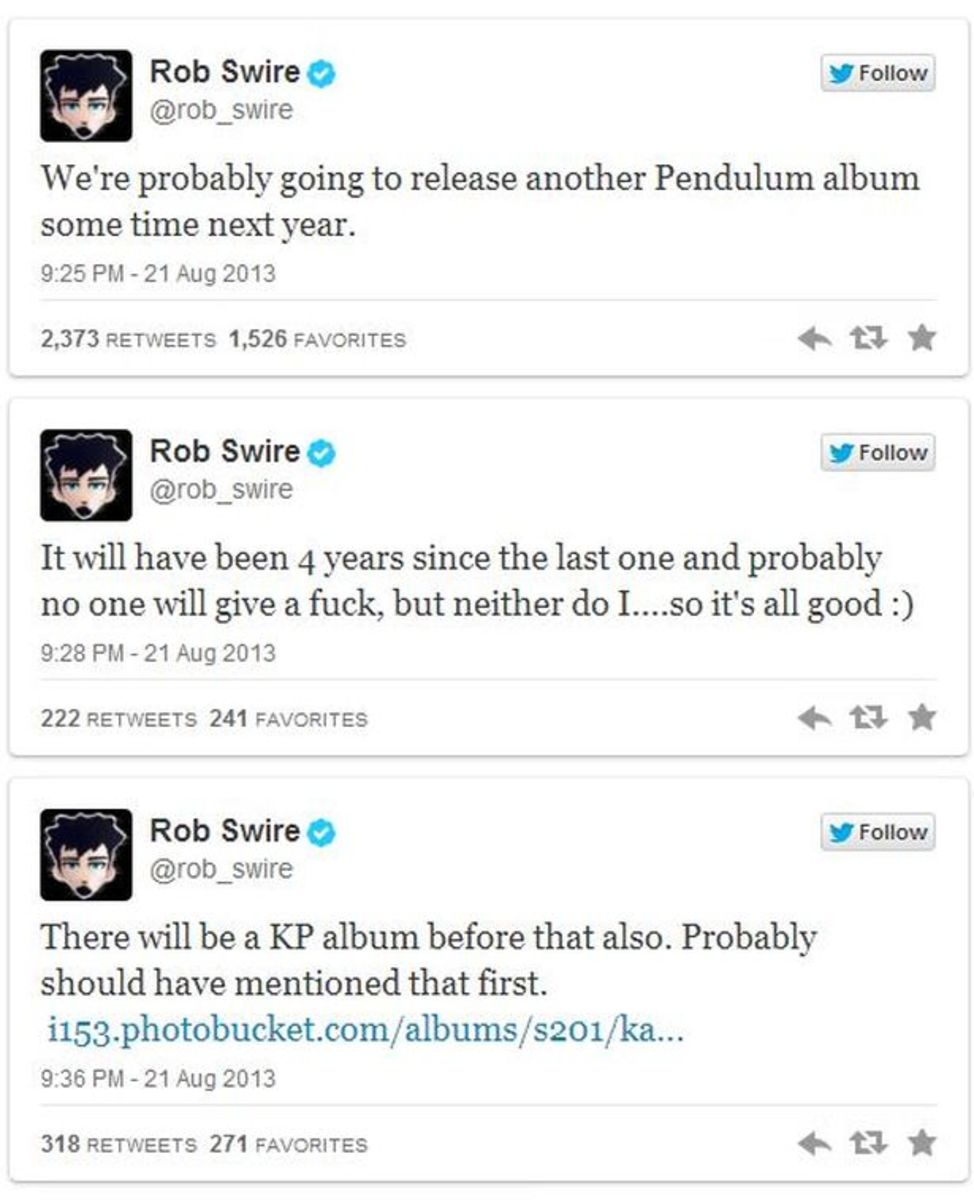EDM News: Rob Swire Announces New Electronic Music From Pendulum AND Knife Party