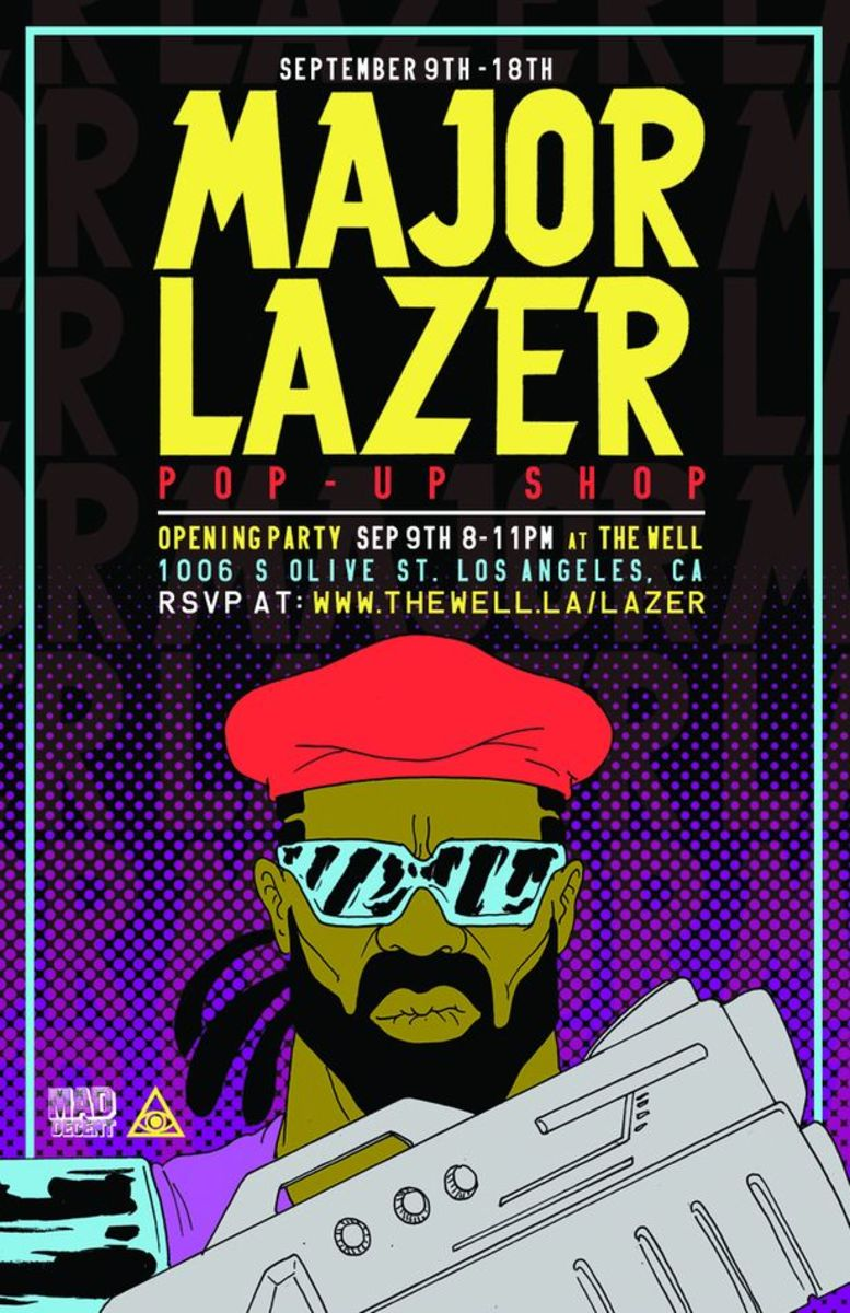 EDM Culture: Major Lazer Pop-Up Shop At The Well LA; Opening Party September 9th 2013