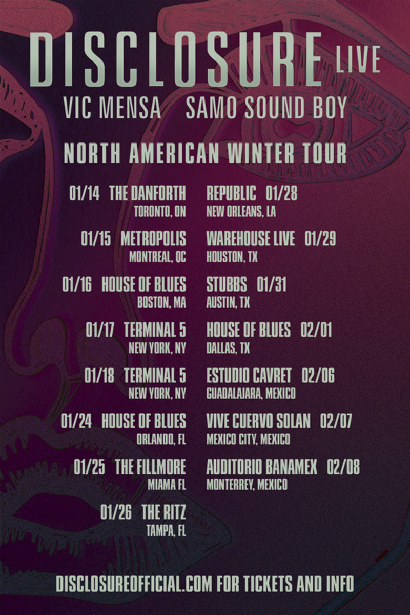 EDM News: Disclosure Announces Winter 2014 North American Tour