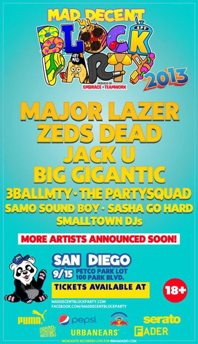 EDM Culture: San Diego Events 9/12 - 9/15 with Krewella, Seven Lions, Morgan Page, Project 46, Major Lazer, Zeds Dead, Dillon Francis + More!