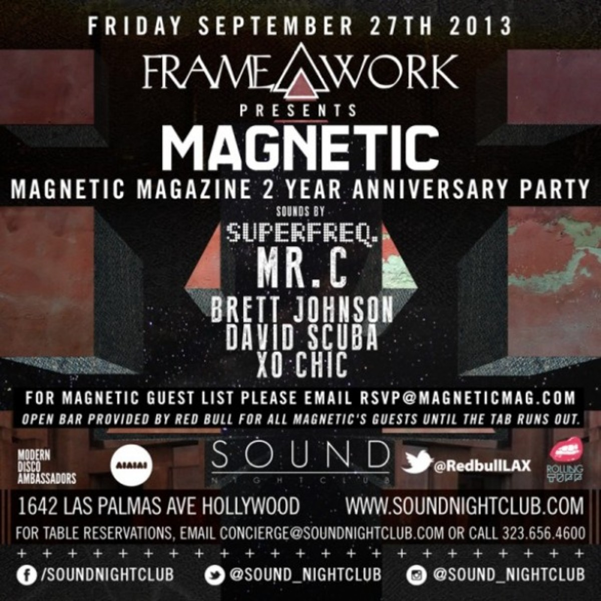 "Magnetic Mag & Complex TV Present ""The Line Up: Sound Fridays"" With Doc Martin And Steve Lawler; Plus Magnetic's 2 Year Anniversary Party At Sound Tonight!"