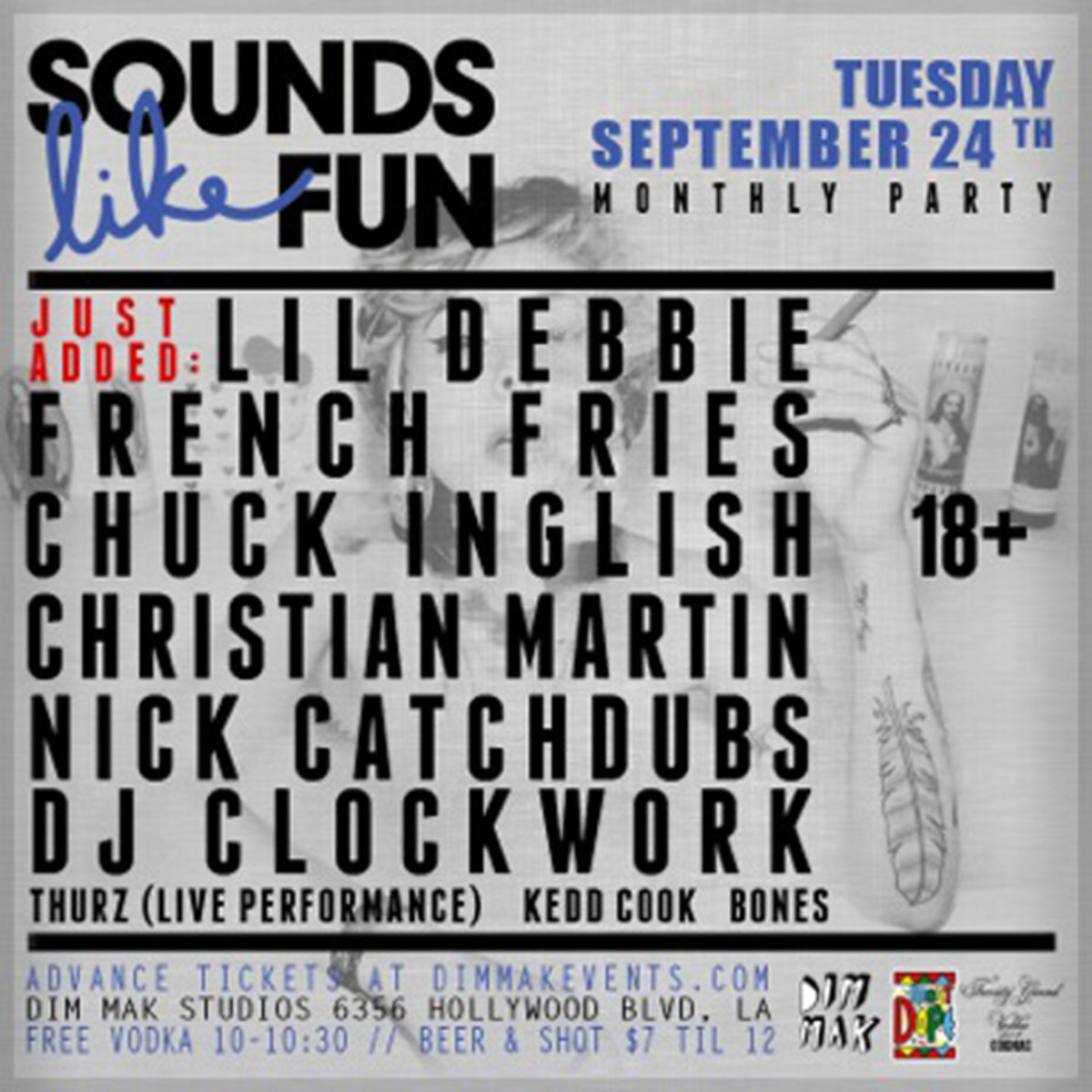 EDM Culture: Sounds Like Fun Takes Over Dim Mak Tuesdays Tonight With Dirtybird DJs, Clockwork, CatchDubs And More