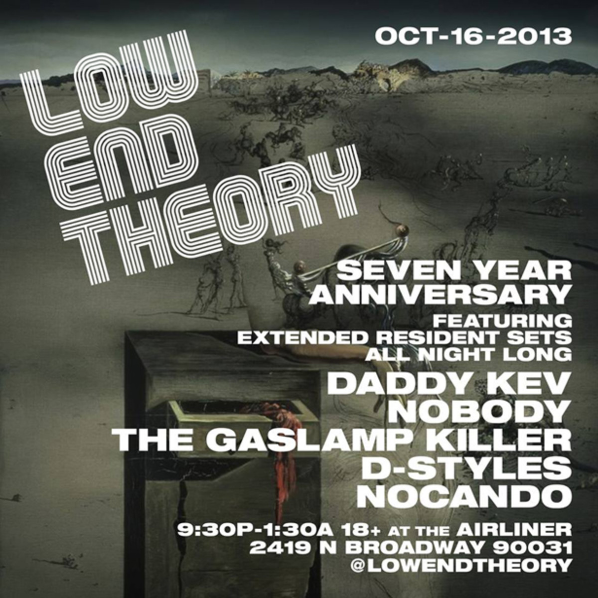 EDM News: Gaslamp Killer Benefit Announced; Return Performance Tonight At Low End Theory