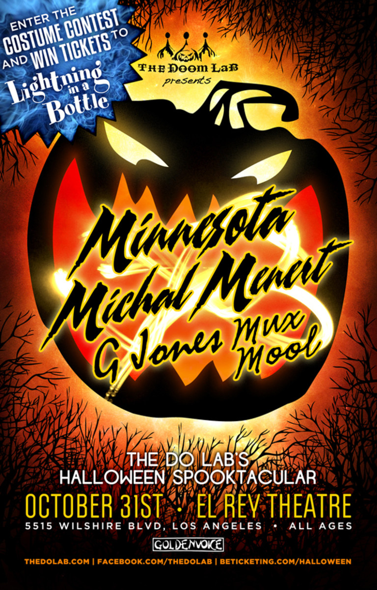 EDM News: The Doom LaB presents a Halloween Spooktacular with Minnesota, Michal Menert, G Jones, Mux Mool