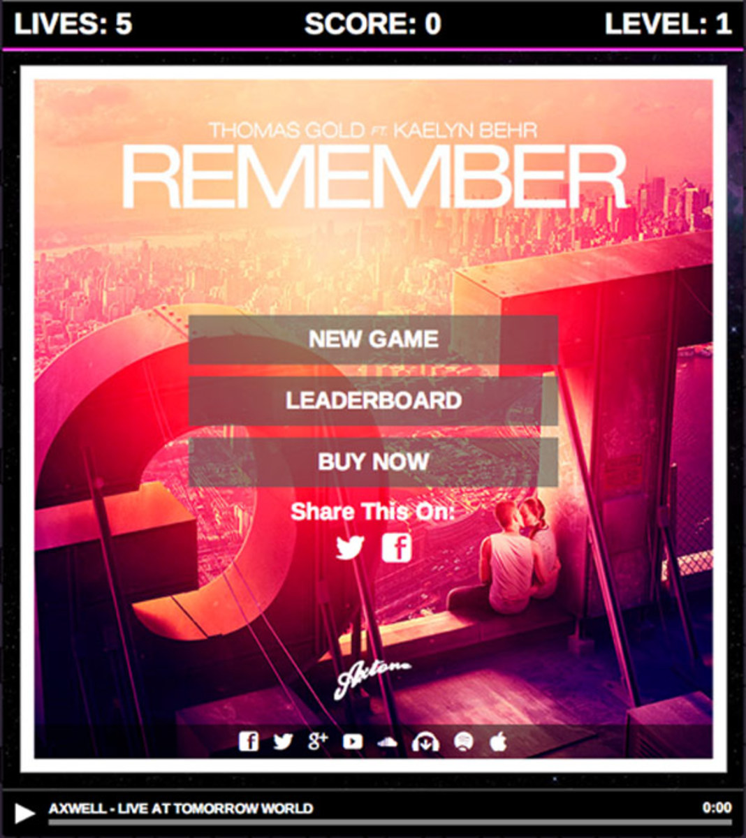 "EDM Culture: ""Remember"" The Game Memory? Play Thomas Gold's Version"