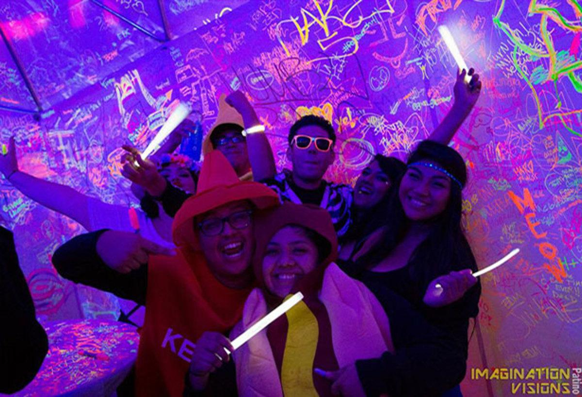 Neon Sharpie Tent