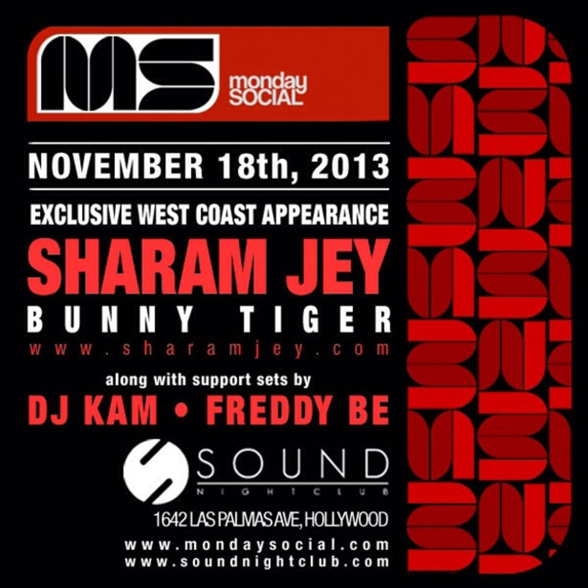 Sharam Jey On The Decks Of Monday Social Tonight Inside Sound Hollywood