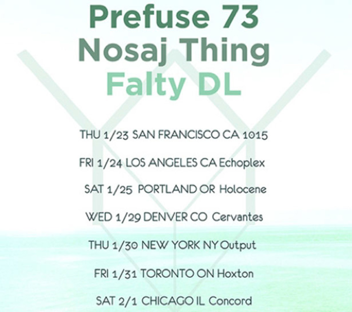 Prefuse 73, Nosaj Thing, & Falty DL Join Up For Yellow Year Tour - EDM News
