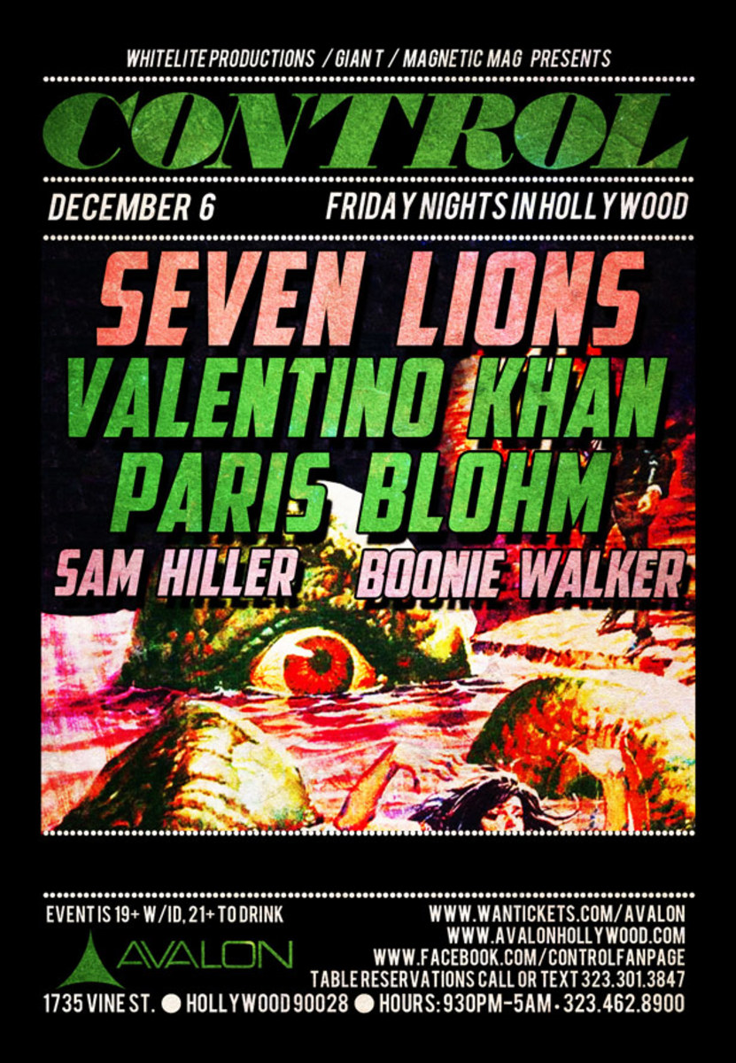 Seven Lions, Valentino Khan, And Paris Blohm At Control Tonight - EDM News