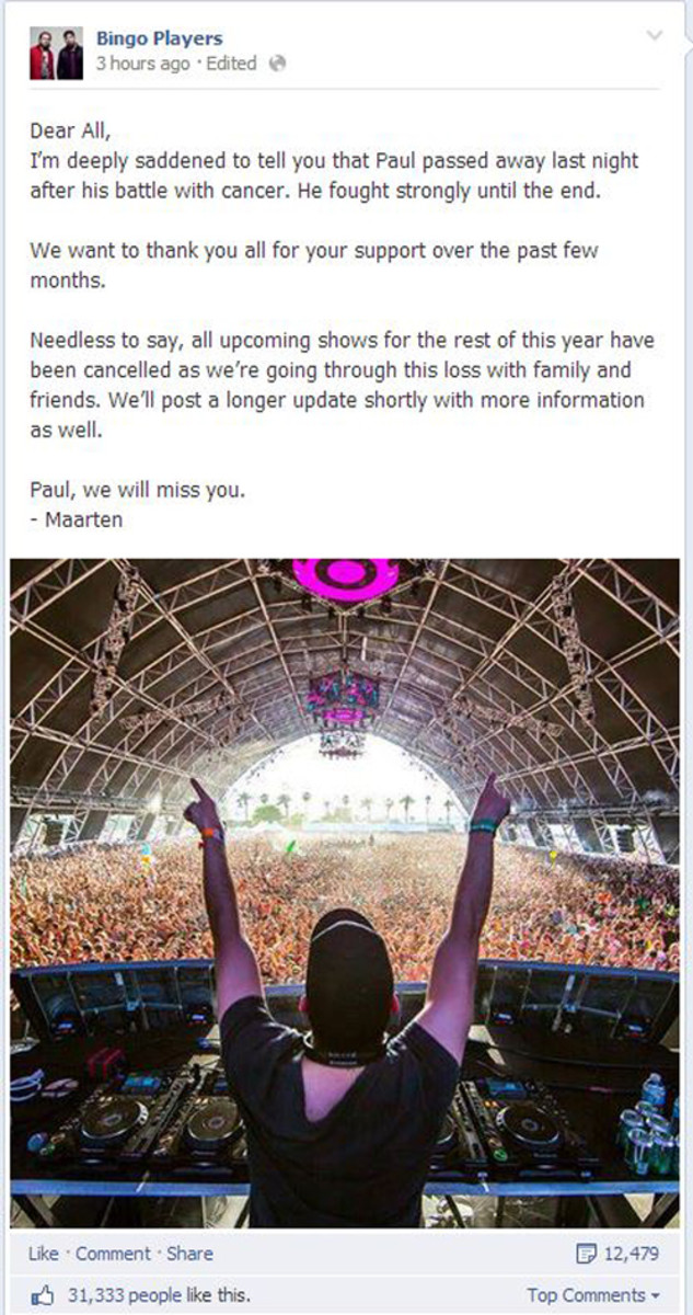 Bingo Players' Paul Baumer Loses Battle With Cancer - EDM News