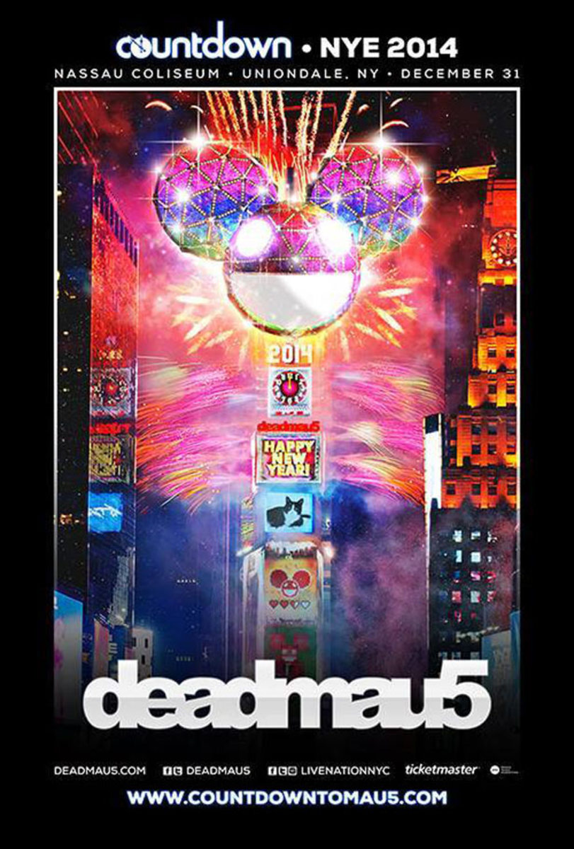 Win A Pair Of Tickets To See deadmau5 New Years Eve in New York - EDM Giveaway