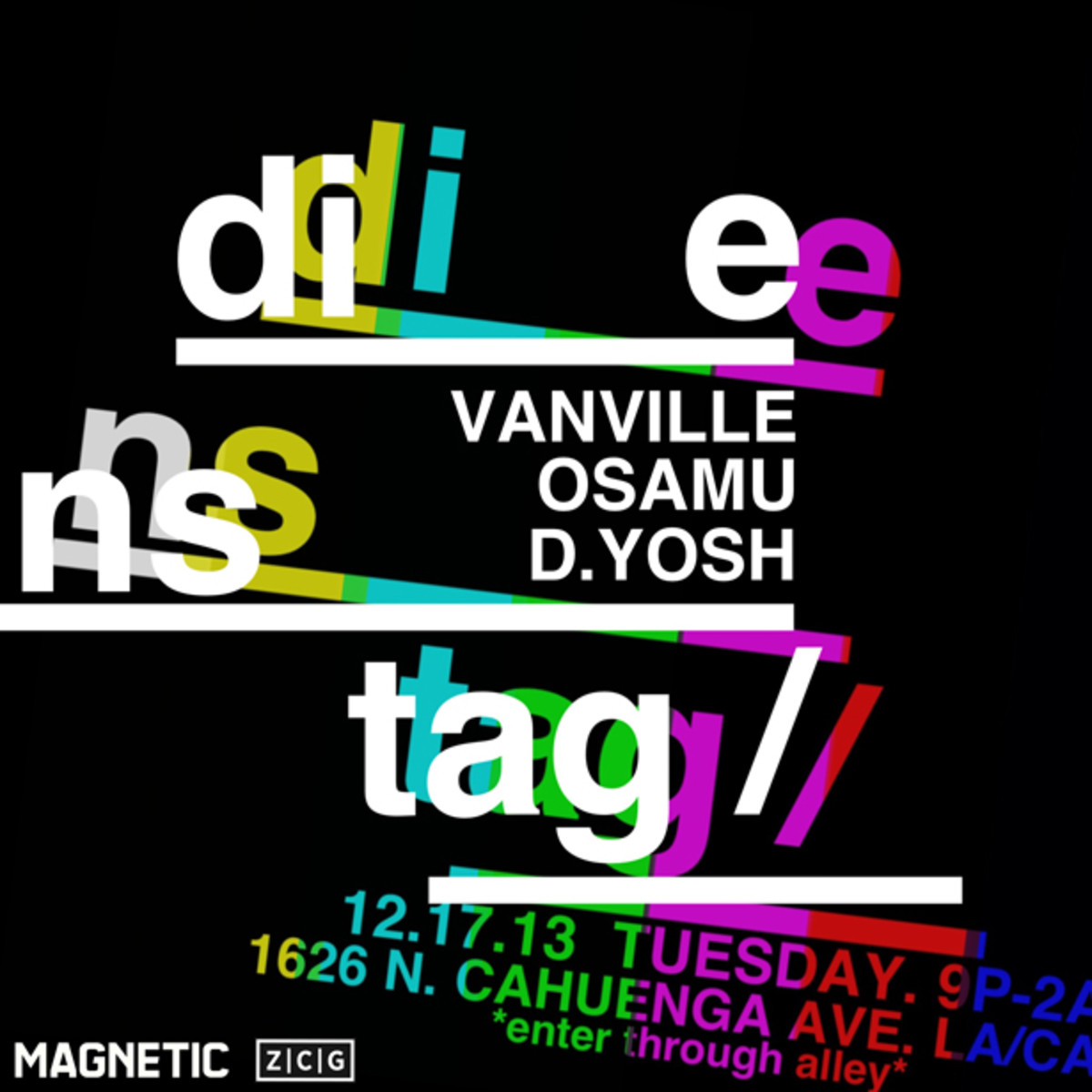 Celebrate The Holidays At Dienstag // Tuesday Pop Up 12/17 With VanVille, Osamu & D. Yosh