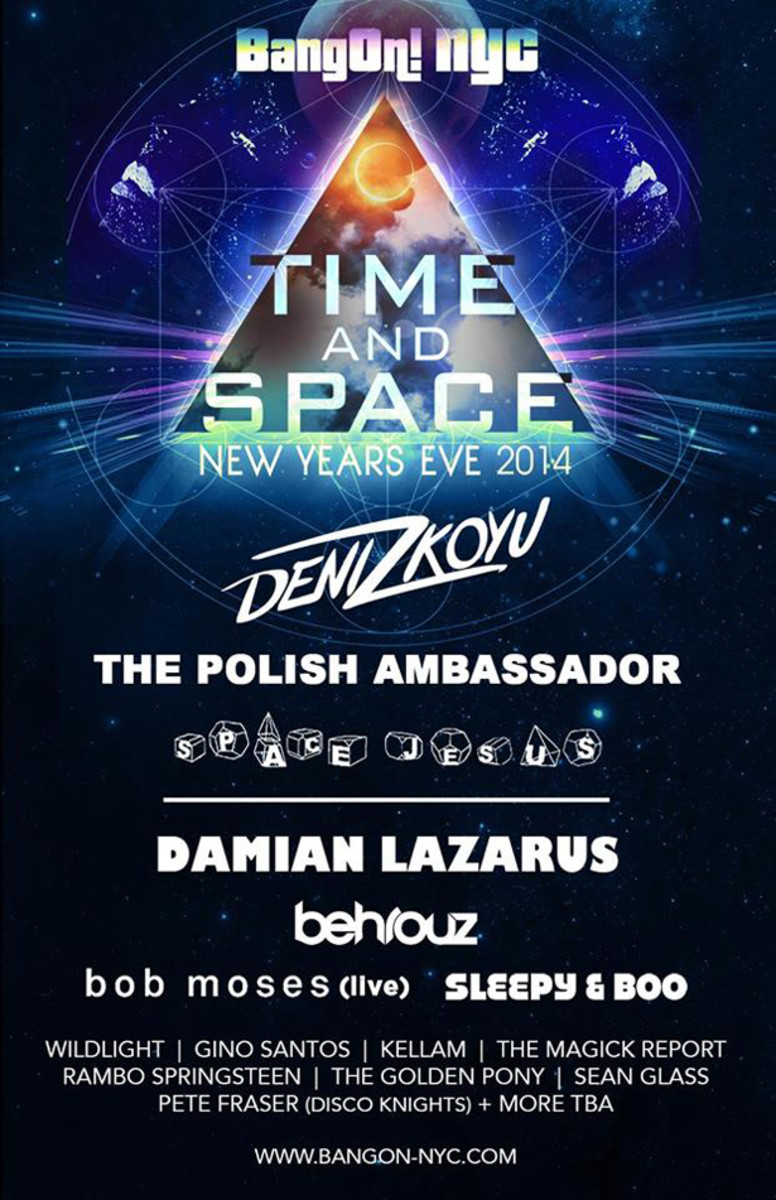 BangOn! NYC Presents New Year's Eve 2014: Time & Space - EDM News
