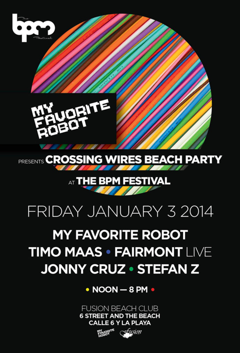 My Favorite Robot's Crossing Wires Beach Party Kicks Off The BPM Festival In Mexico Today - EDM News