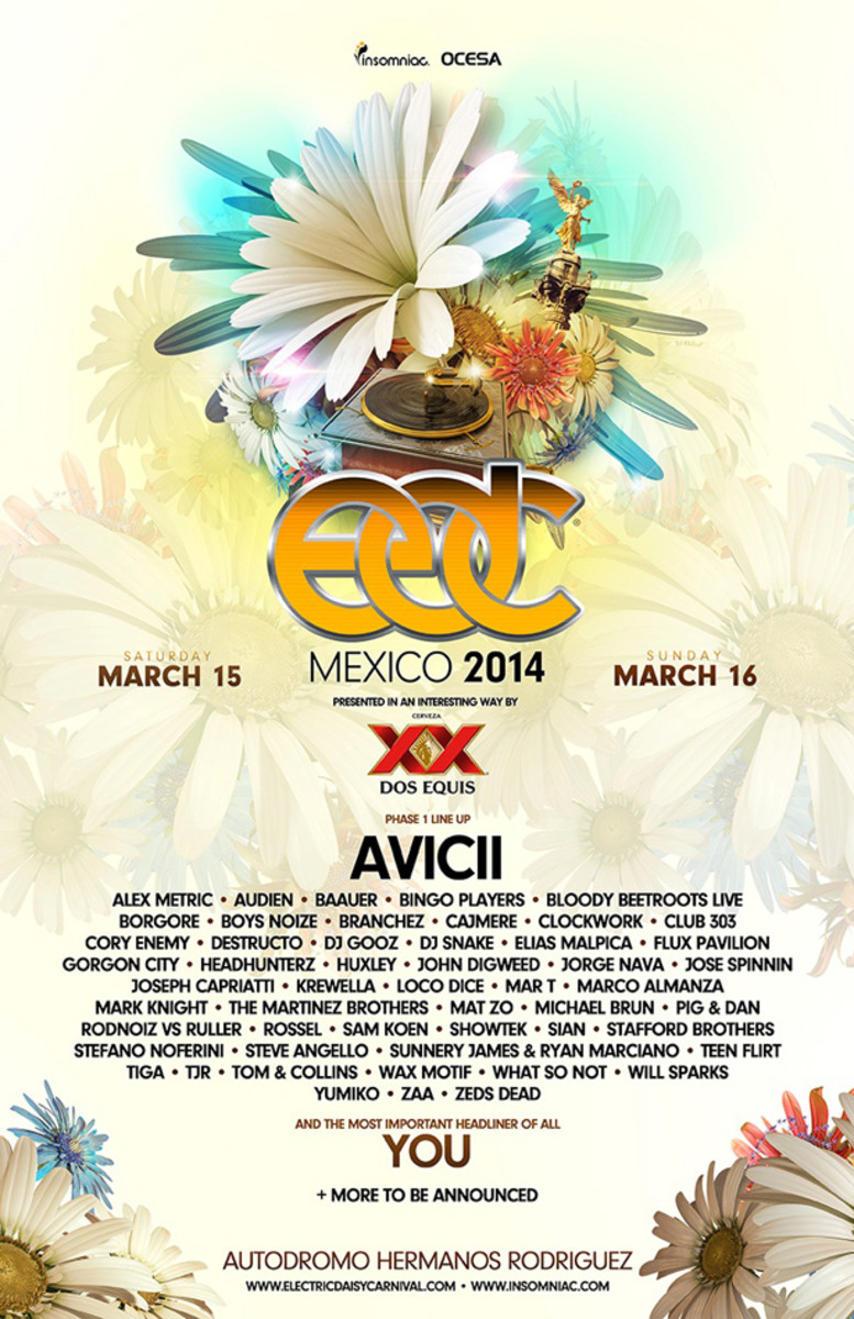 Avicii, Krewella, Steve Angello And More Announced For EDC Mexico - EDM News
