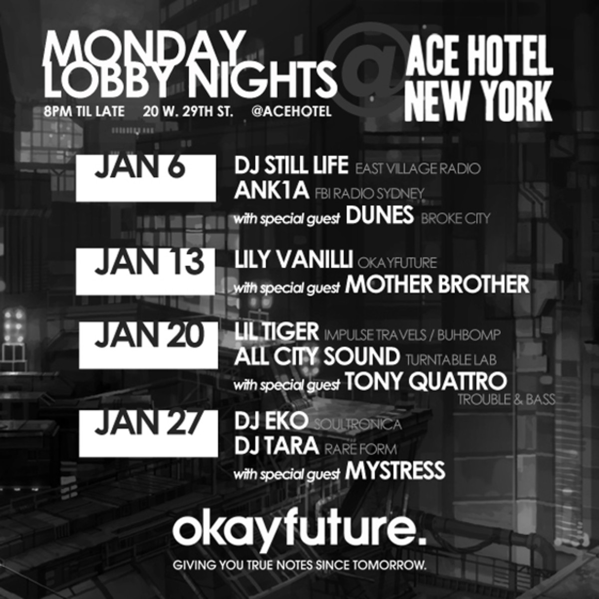 Okayfuture Takes Over The Ace Hotel New York Lobby This January - EDM News