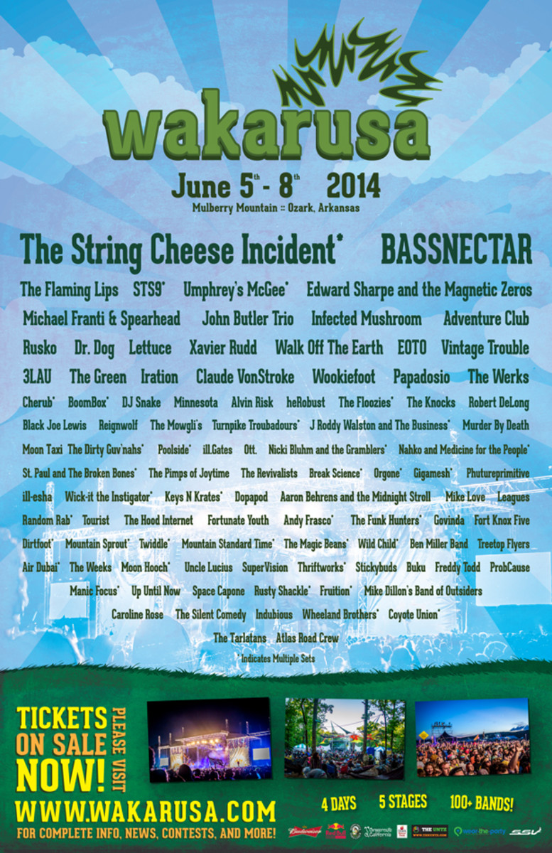 Bassnectar, Flaming Lips, Claude Von Stroke & Many More To Play Wakarusa Festival 2014 - EDM News