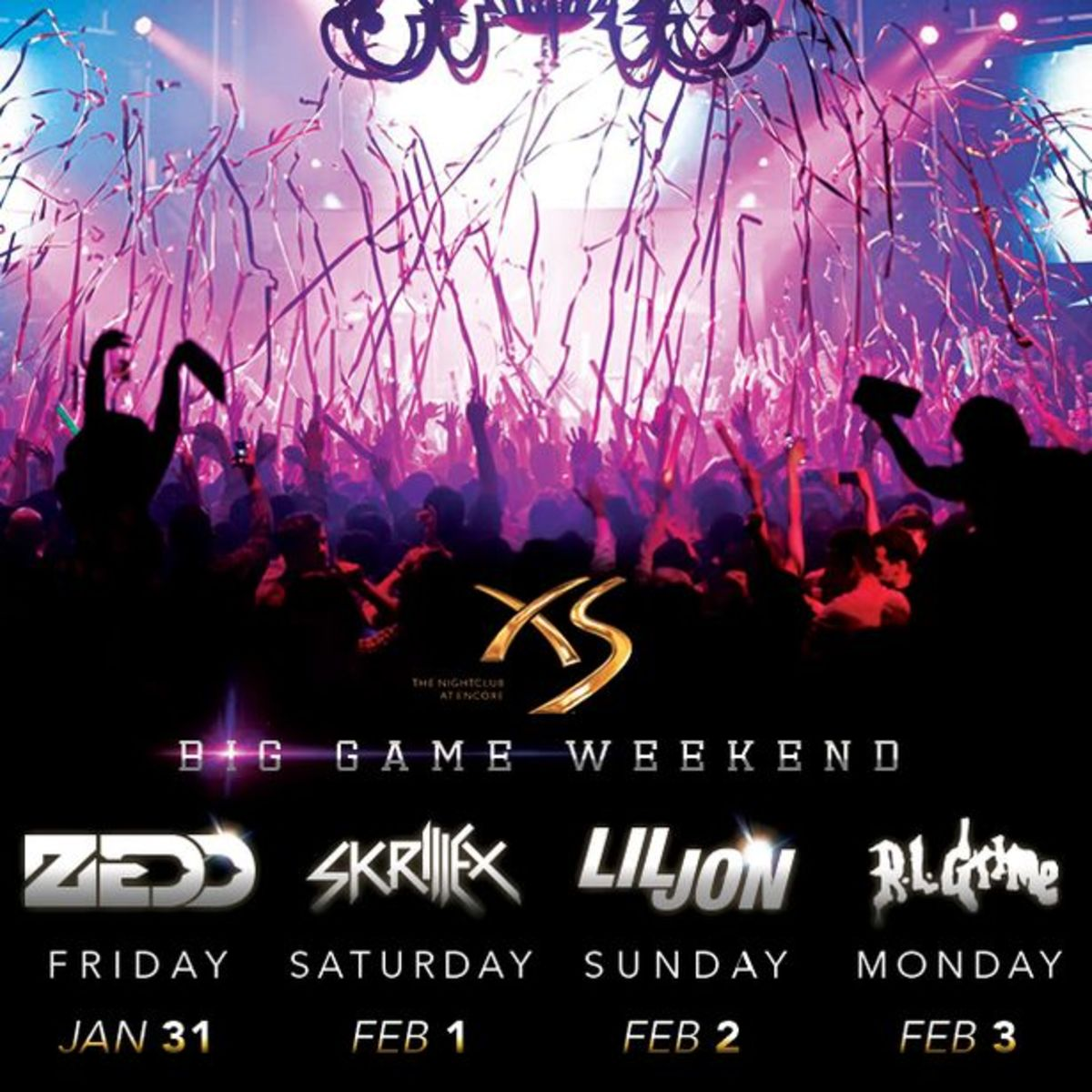 Win A Four Day Pass To XS Las Vegas Over 'Big Game' Weekend- Zedd, Skrillex, Lil Jon & RL Grime Performing