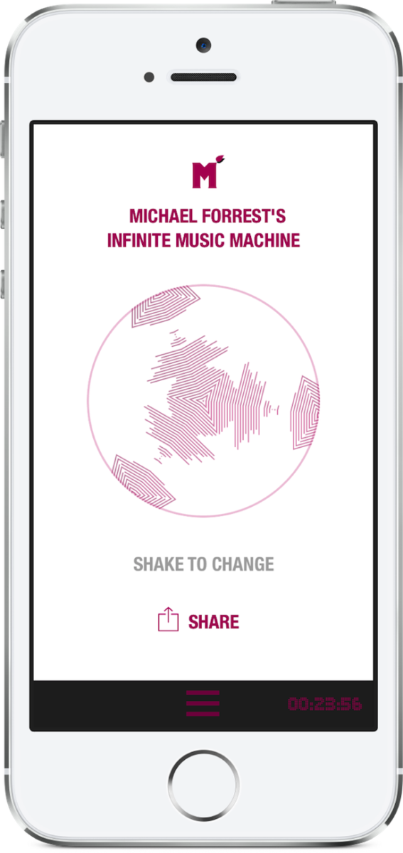 The Most Peculiar Album Premiere We've Ever Done: Download Michael Forrest's 'Infinite Music Machine' Album-App