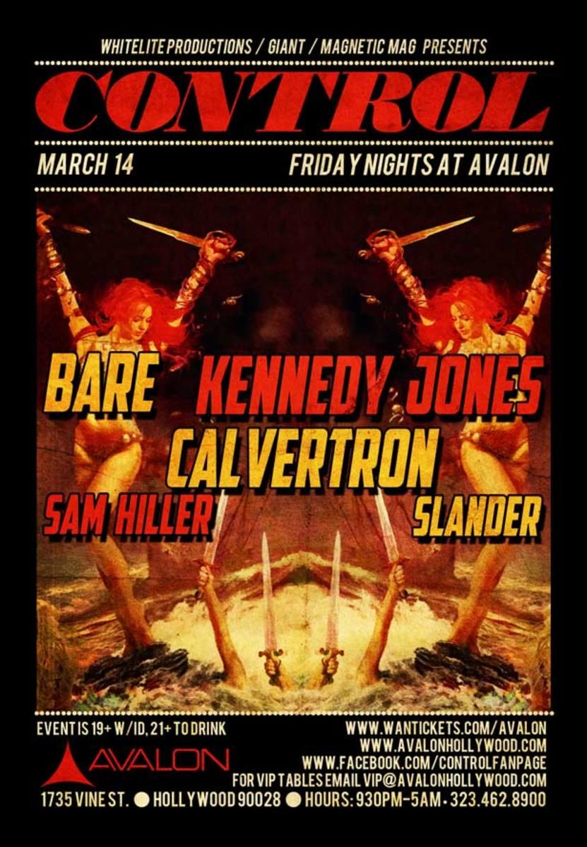 Control Tonight- Bare, Kennedy Jones, Calverton, Sam Hiller & Slander