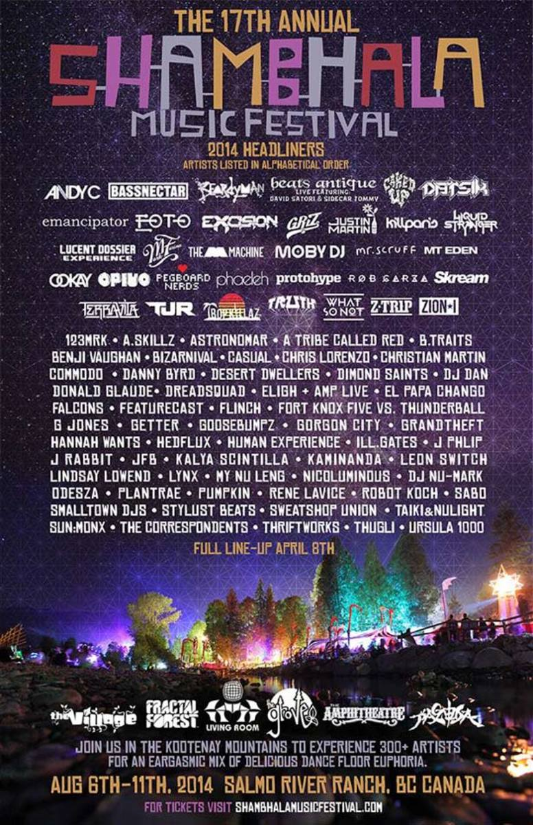 2014 Shambhala Festival Announces Headliners & First Wave Lineup