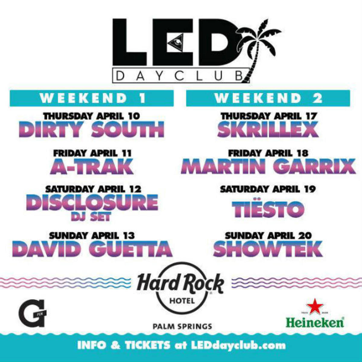 LED Announces Day Club in Palm Springs