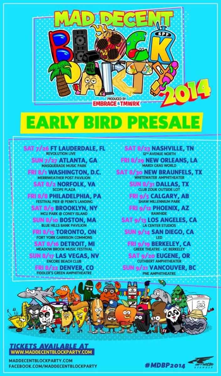 Mad Decent Block Party Announces 2014 Schedule - EDM Culture
