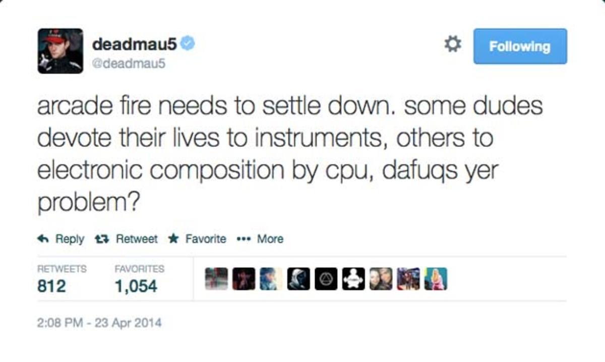 deadmau5 Slams Arcade Fire After Anti-EDM Comment At Coachella