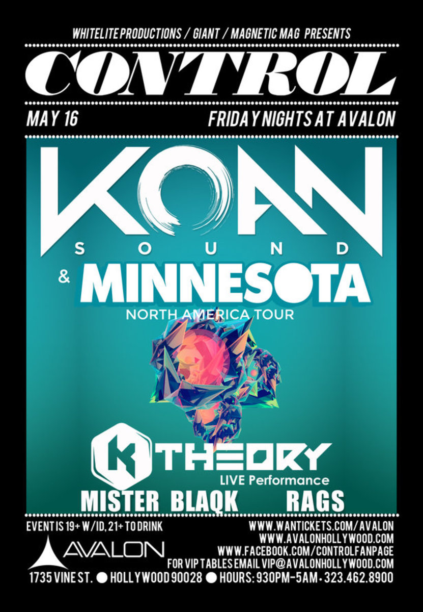 Koan Sound, Minnesota, And K Theory At Control This Friday