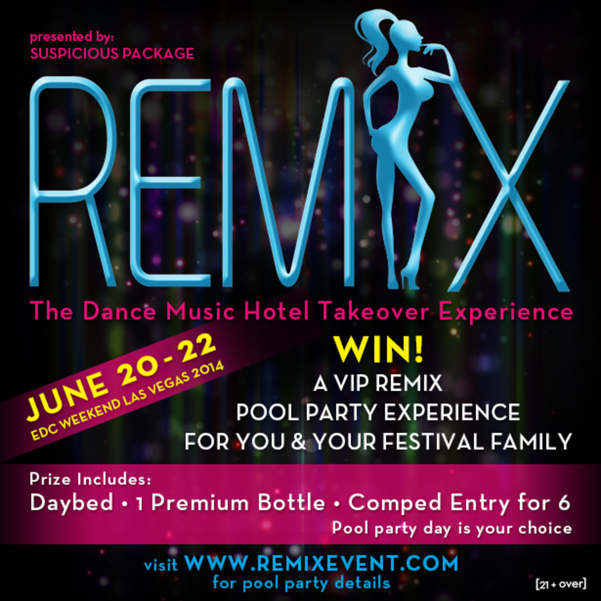 Enter To Win VIP Pool Party Experience At The REMIX Takeover, Held During EDC