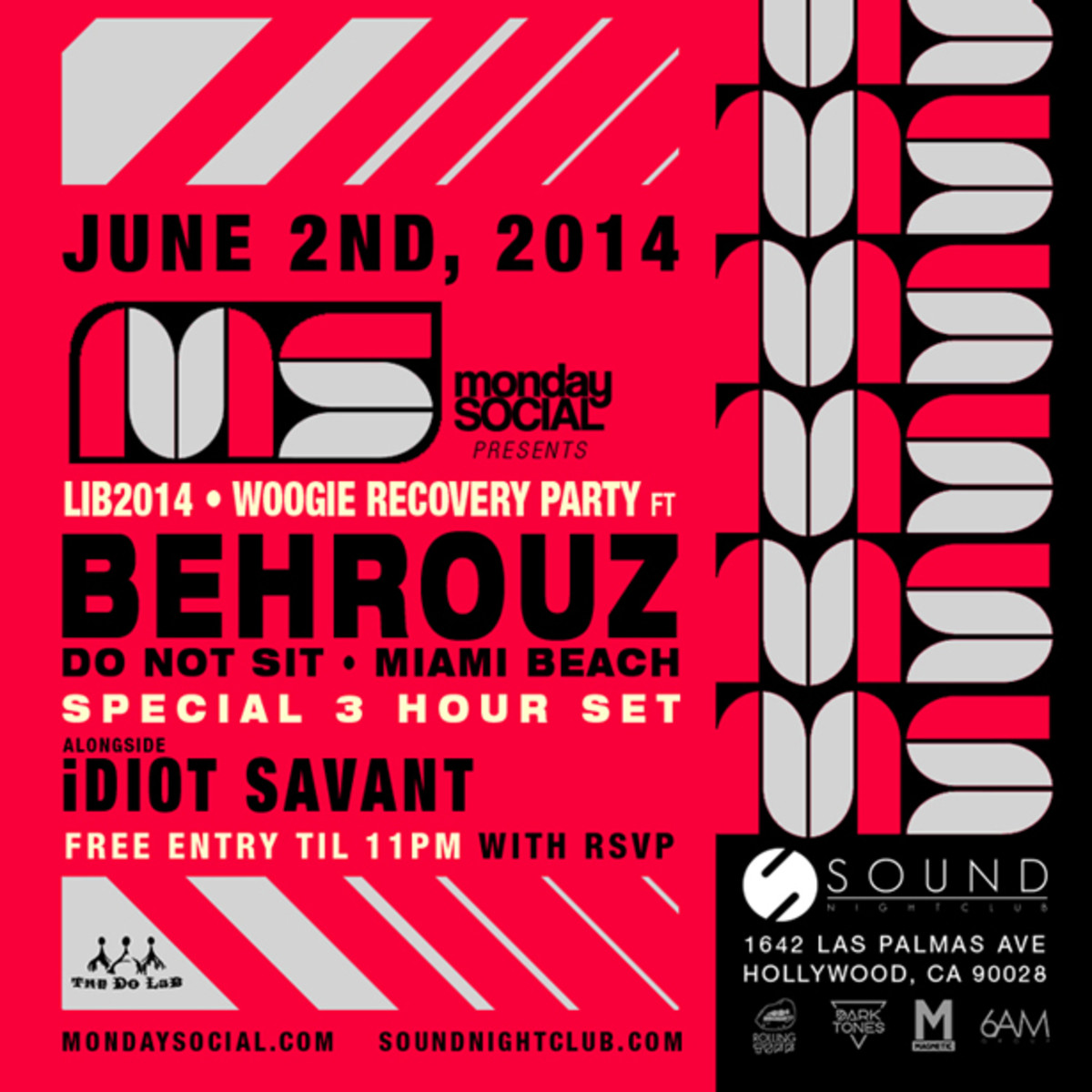 Monday Social June 2nd, 2014 - Behrouz & iDIOT SAVANT