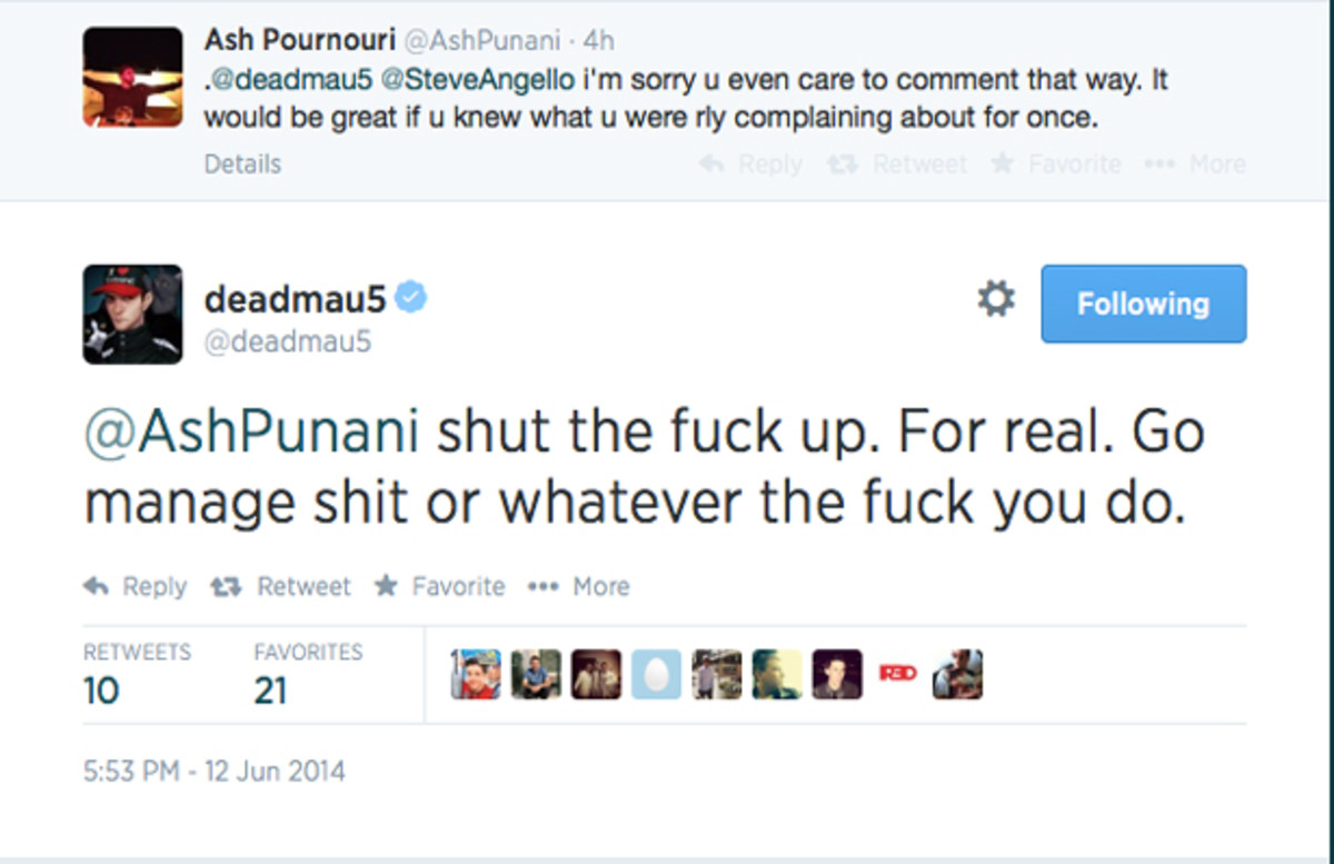 deadmau5 Just Threw Shade All Over Avicii's Manager On Twitter
