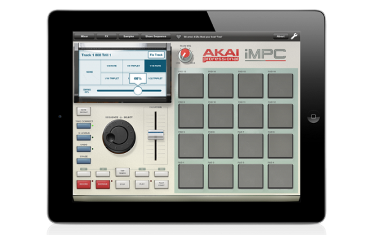 Akai Releases Digital MPC With New IMPC Pro App For Iphone/Ipad