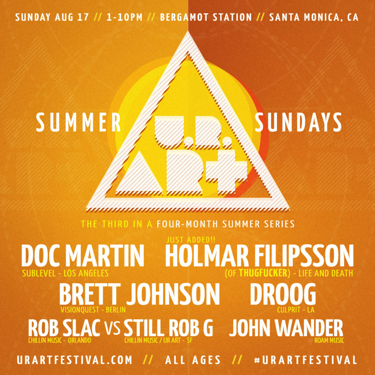 Los Angeles - U.R. Art - Sunday, August 17th With Doc Martin