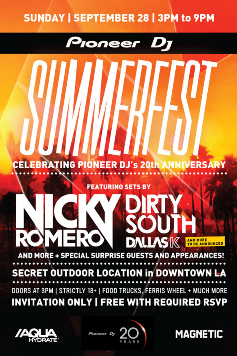 Enter To Get On The Guestlist For Summerfest Featuring Nicky Romero, Dirty South & More!
