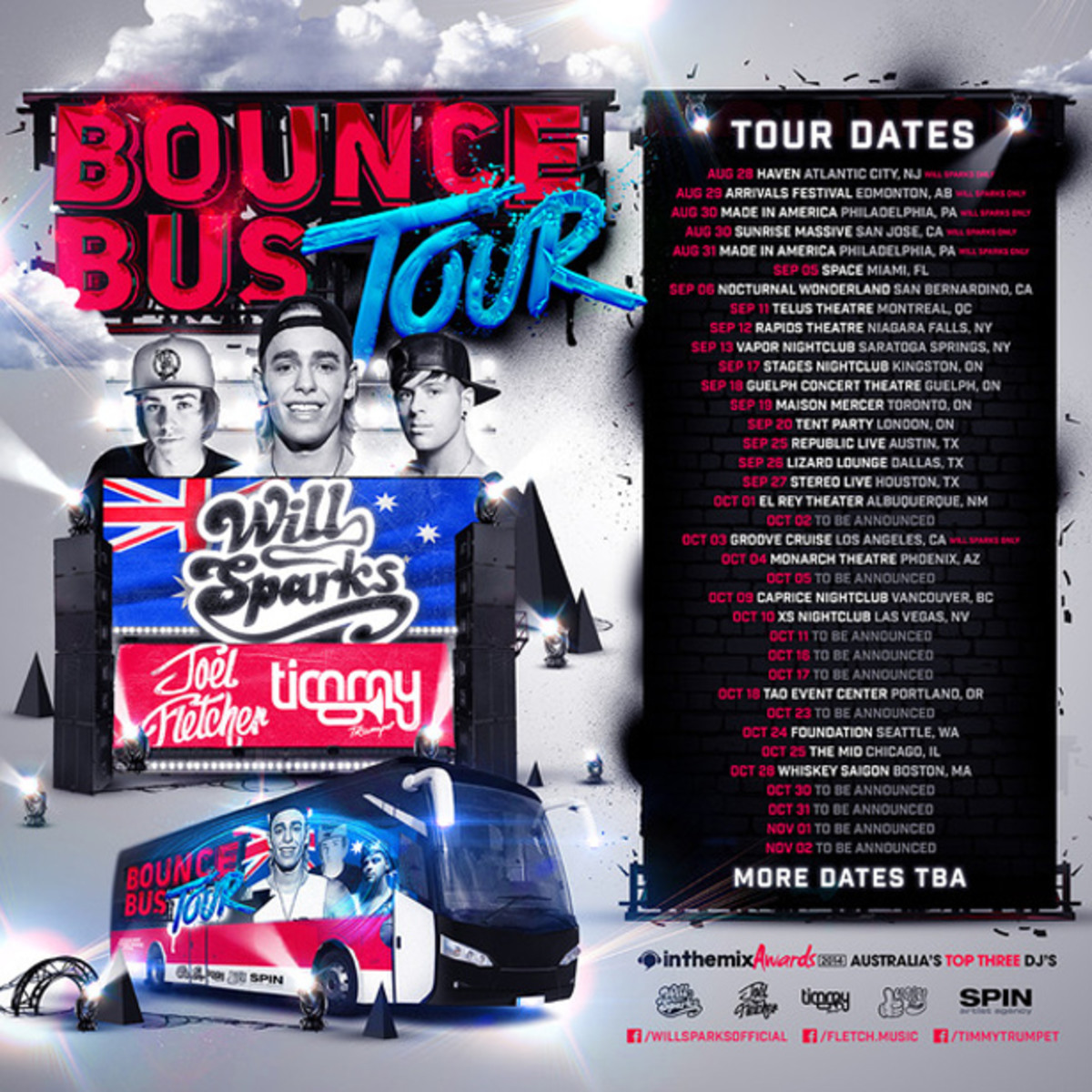 [Interview] Will Sparks, Joel Flecther & Timmy Trumpet On The Bounce Bus Tour