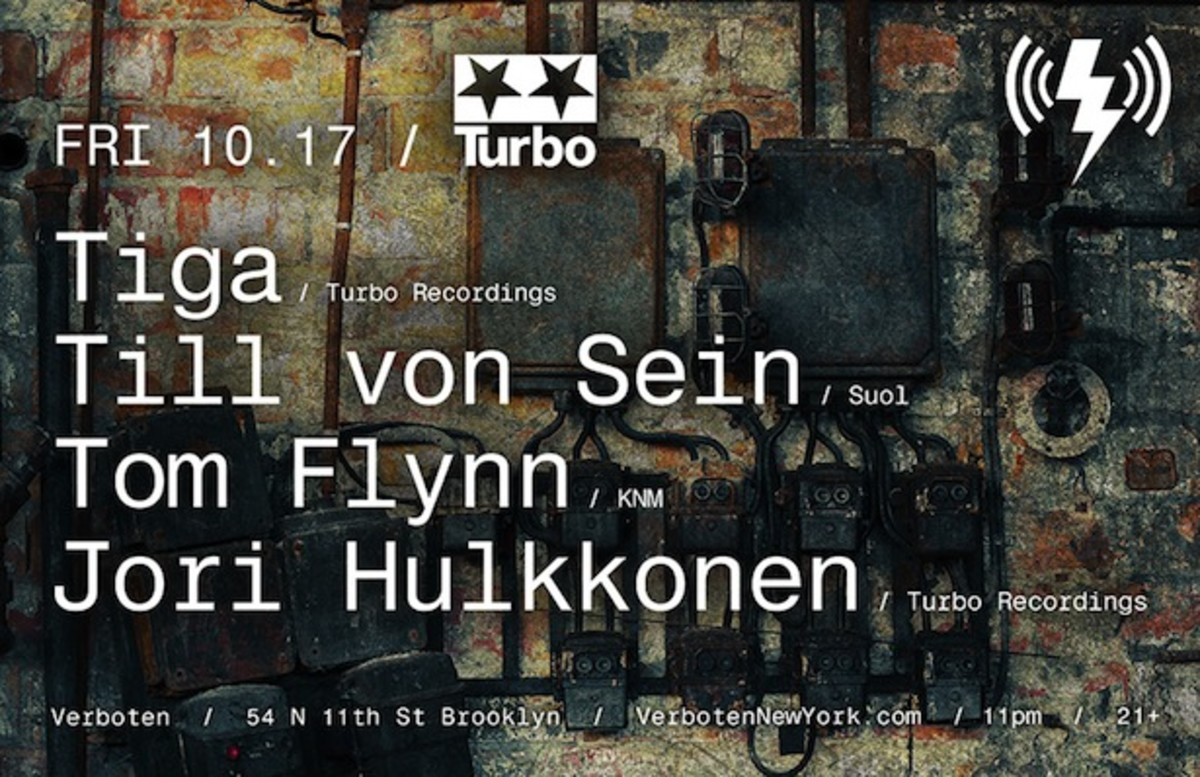 [Event Preview] Tiga @ Verboten NYC - 10/17