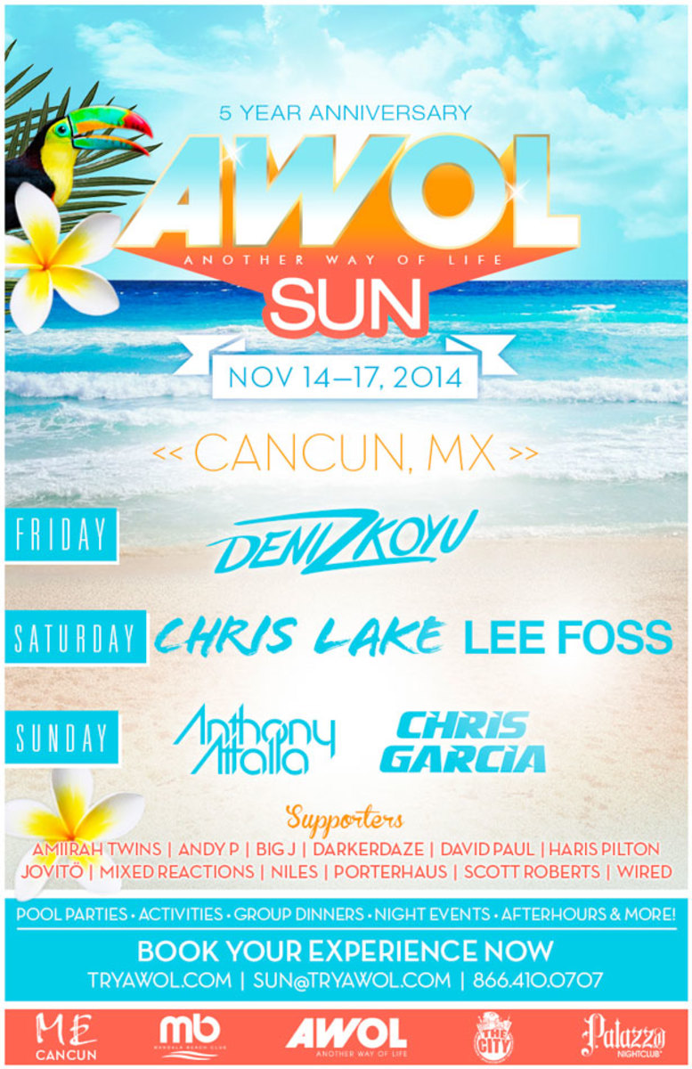 AWOL SUN 2014 Makes Official Lineup Announcement