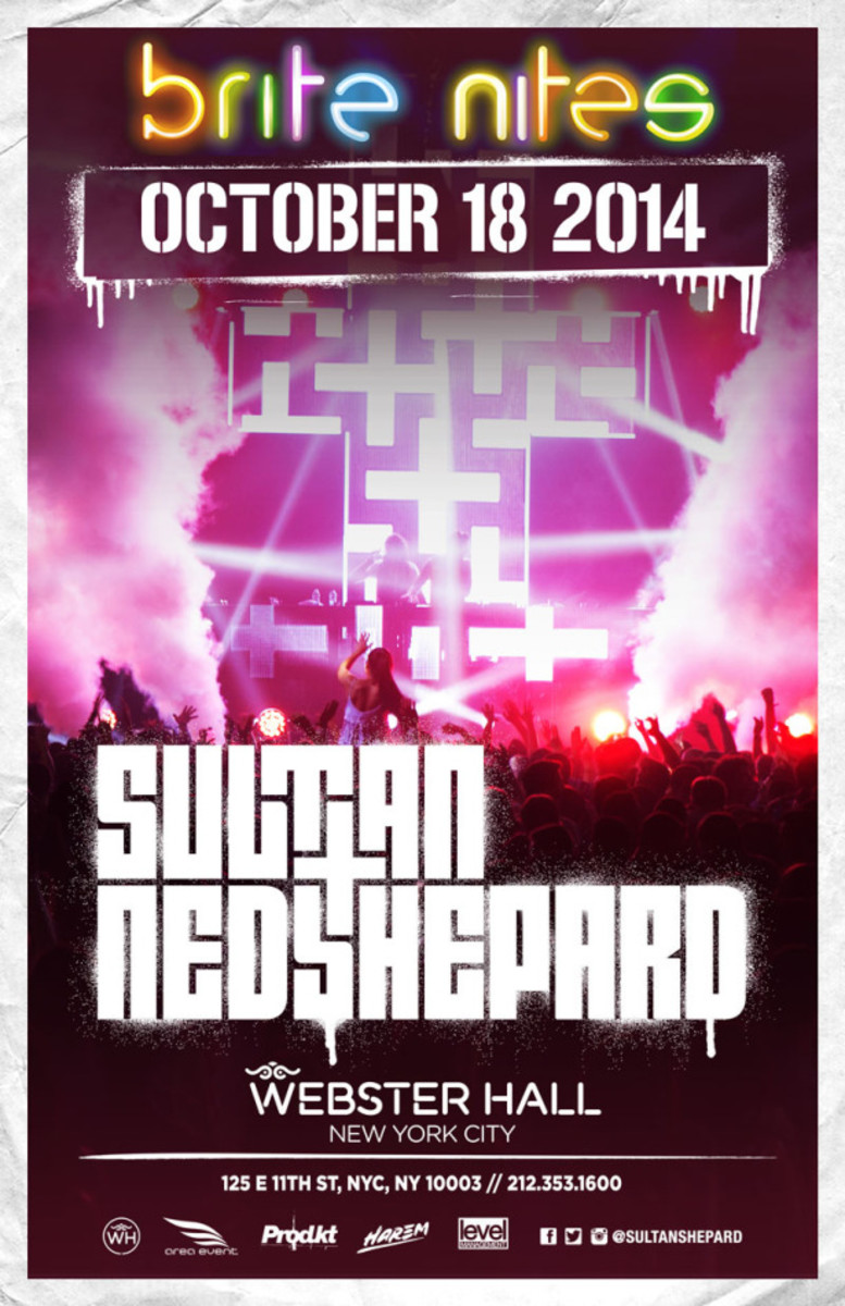 NYC Event Spotlight: Sultan & Ned Shepard @ Webster Hall 10/18/14