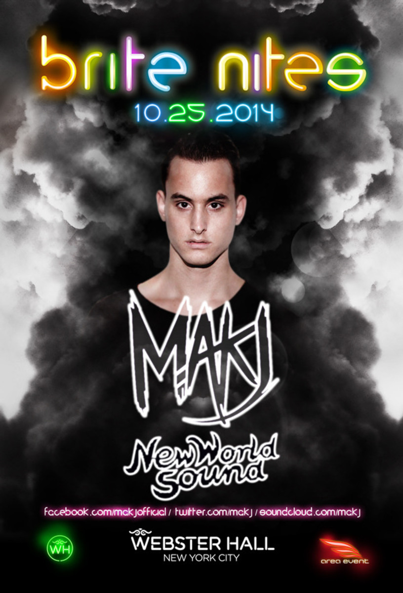 NYC Event Spotlight: MAKJ At Webster Hall For brite nites 10-25-14