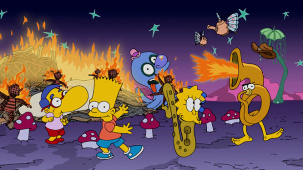 Get A Frist Look Of The Simpsons Go To Burning Man Stills