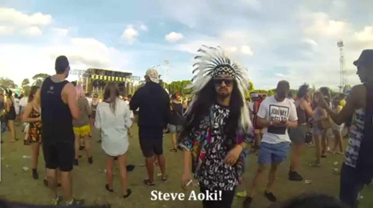 Fake Steve Aoki Trolls Audiences At Stereosonic