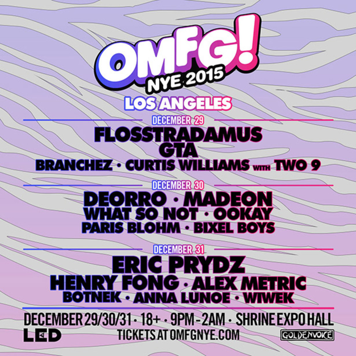 Spotlight Event: LED's Got The EPIC NYE Event with OMFG! LA