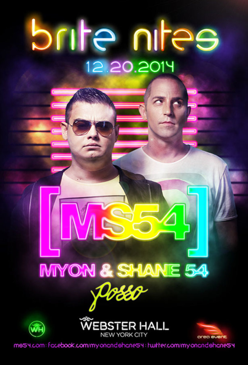 Event Spotlight: Brite Nites at Webster Hall With Myon & Shane 54 and Posso