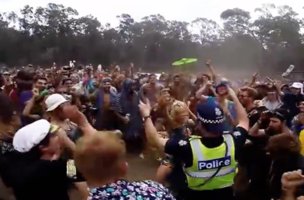 Cop In A Dance-Off At Music Festival?