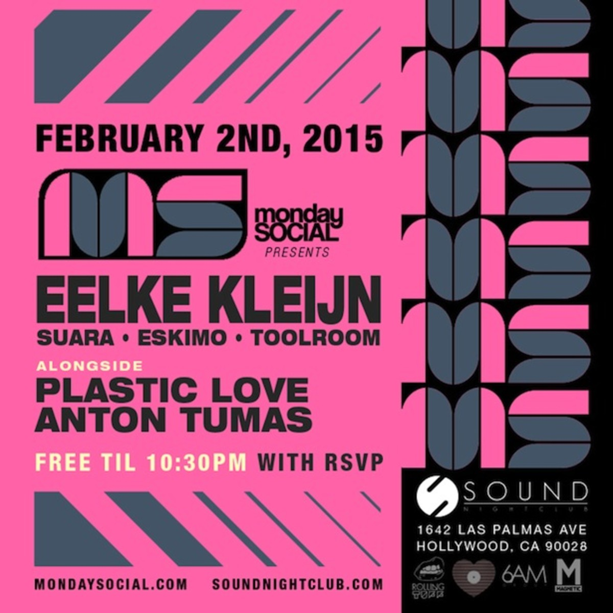 Monday Social presents Eelke Kleijn Tonight at Sound!