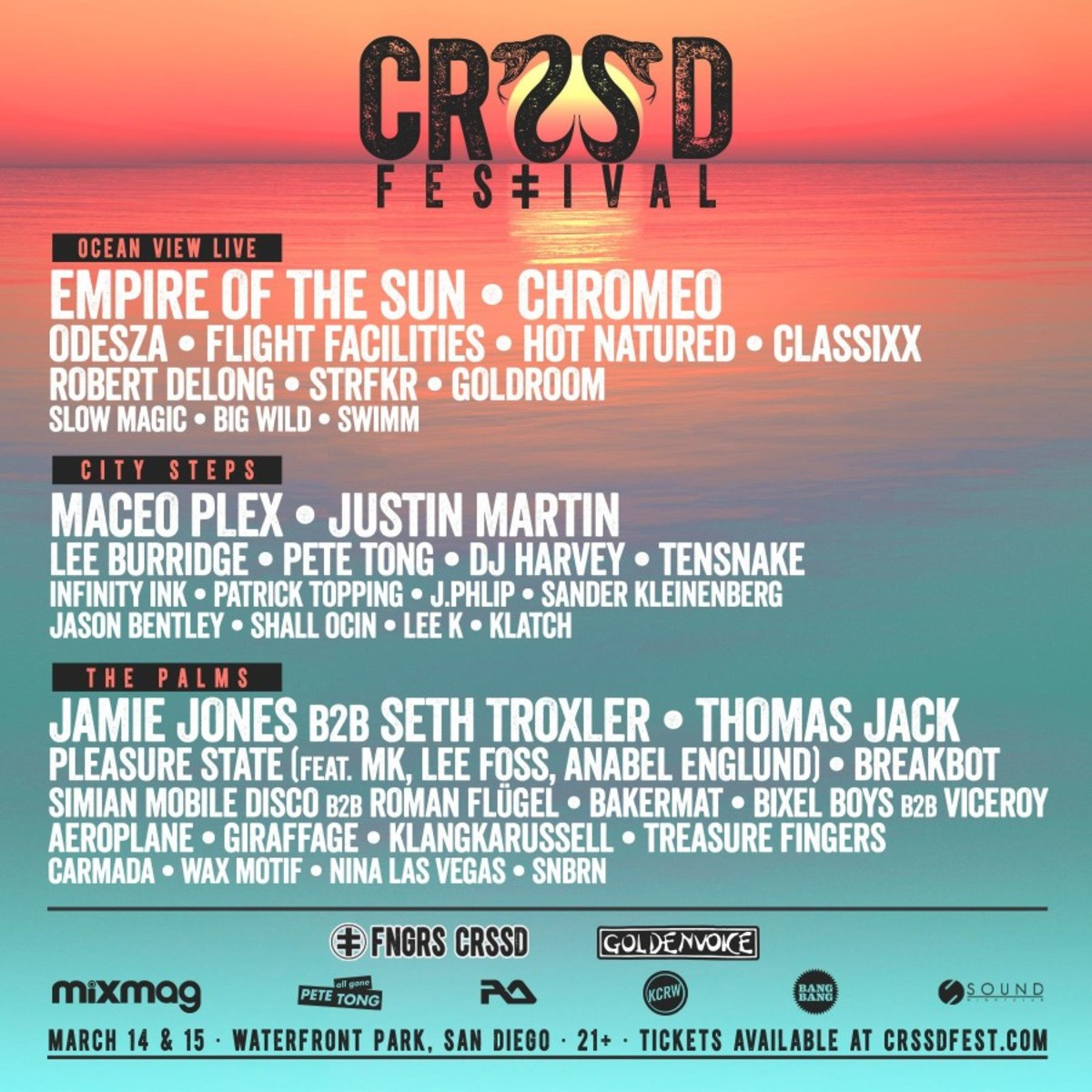 CRSSD Festival Fully Revealed With New Artists