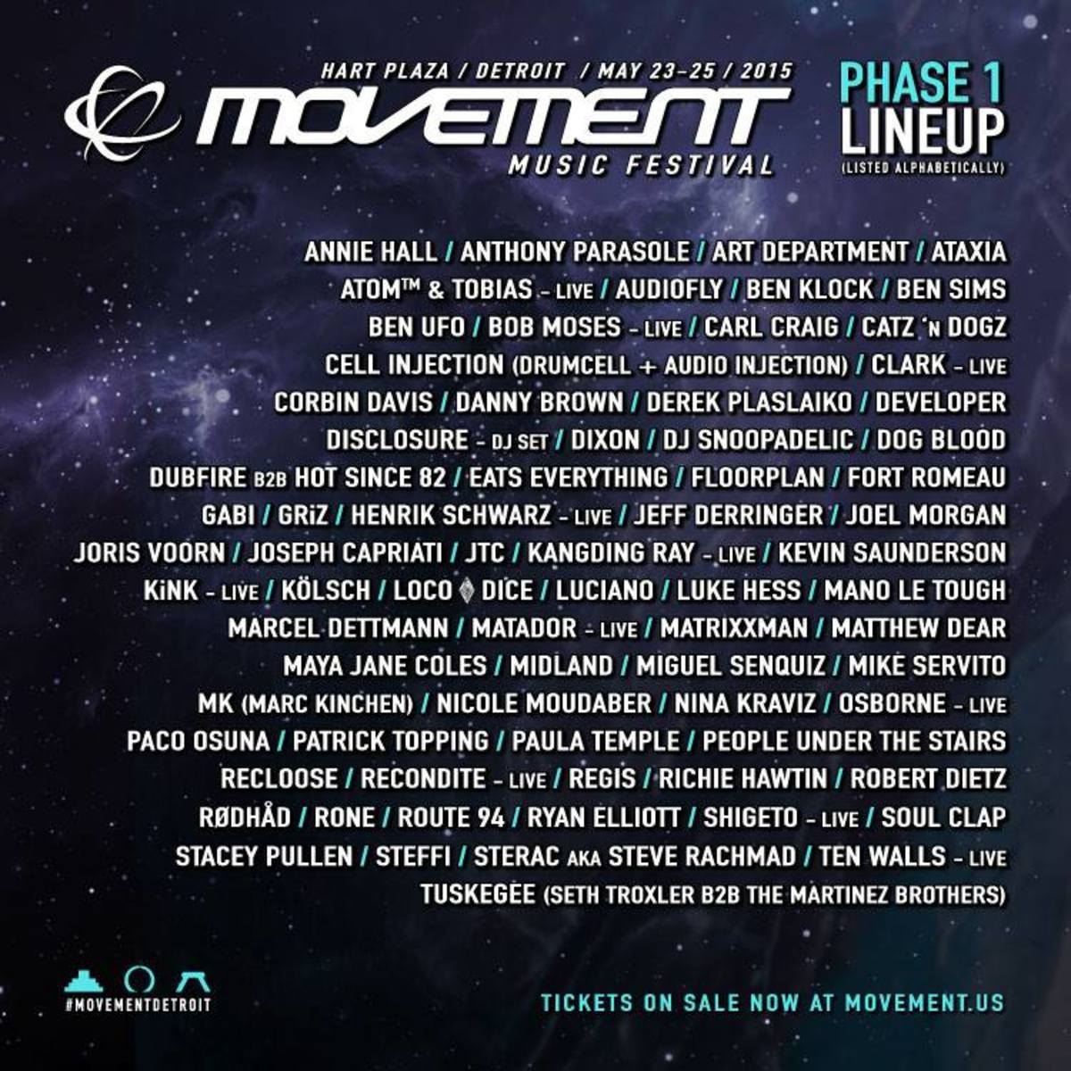 Movement Detroit Announces Lineup w/ Disclosure, Dog Blood (Phase-One)