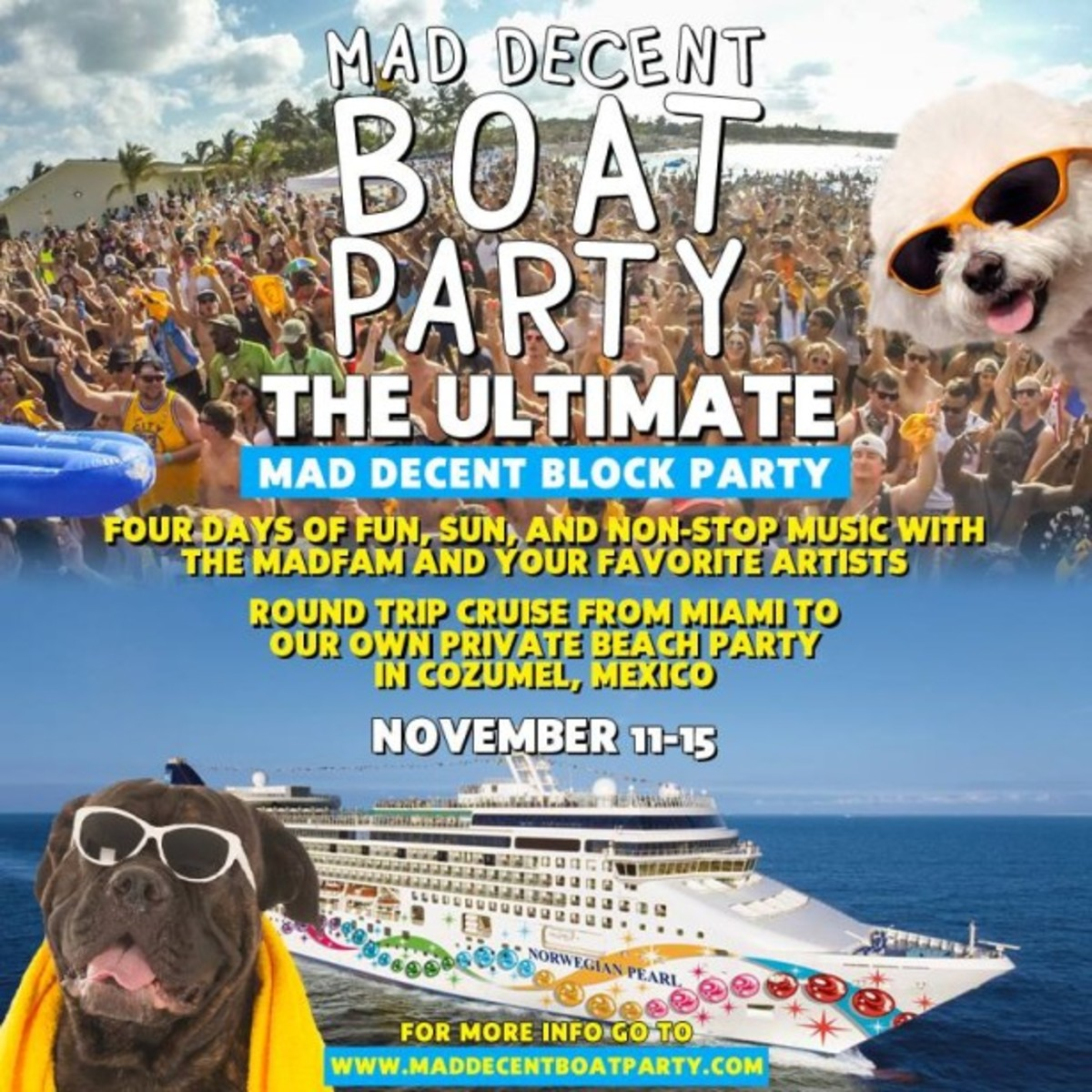 Mad Decent Boat Party Cruising To Cozumel