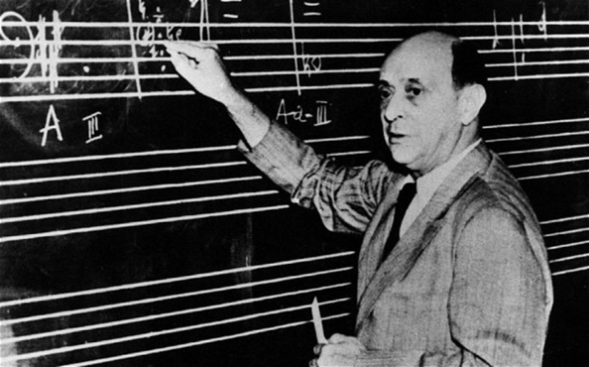 schoenberg arnold 13 9 1874 13 6 1951 austrian composer half length writing at the blackboard writing notes male man
